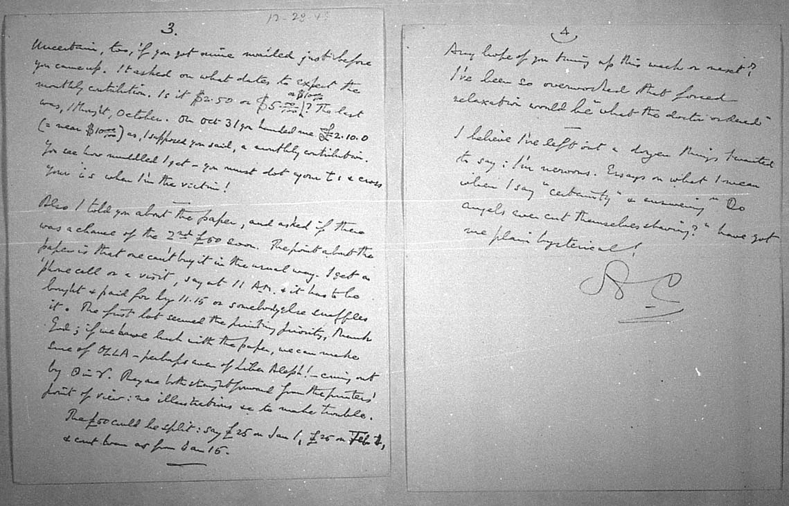 (12/28/1943) Aleister Crowley to Grady McMurtry #3