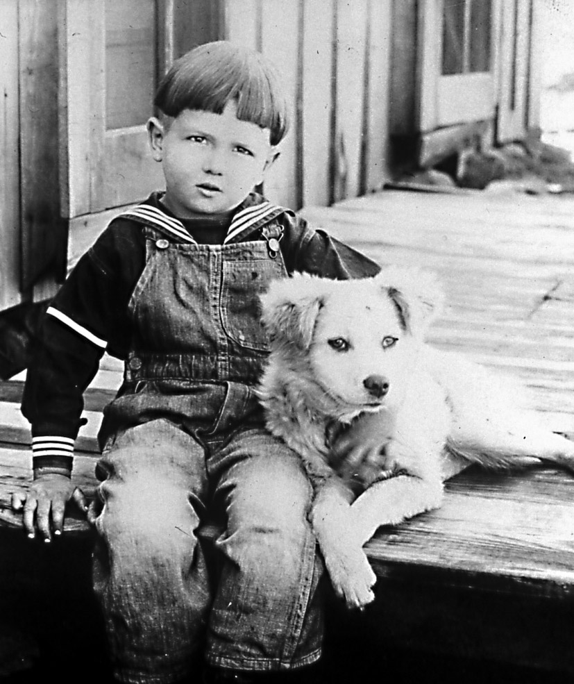 (1920's) Young Grady in Big Cabin, Oklahoma