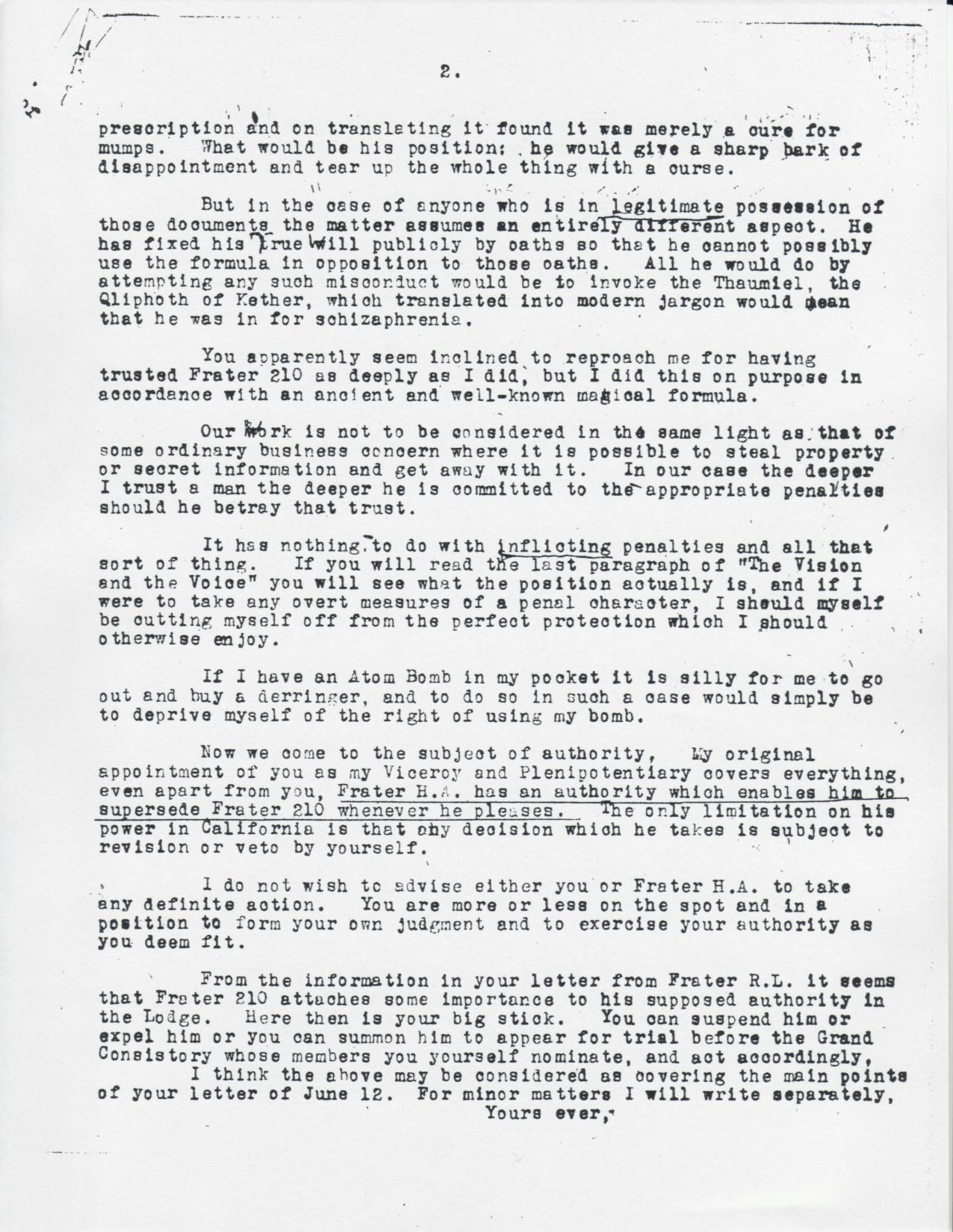 grady mcmurtry to karl germer the grady mcmurtry project 06 19 1946 grady mcmurtry to karl germer pg 2