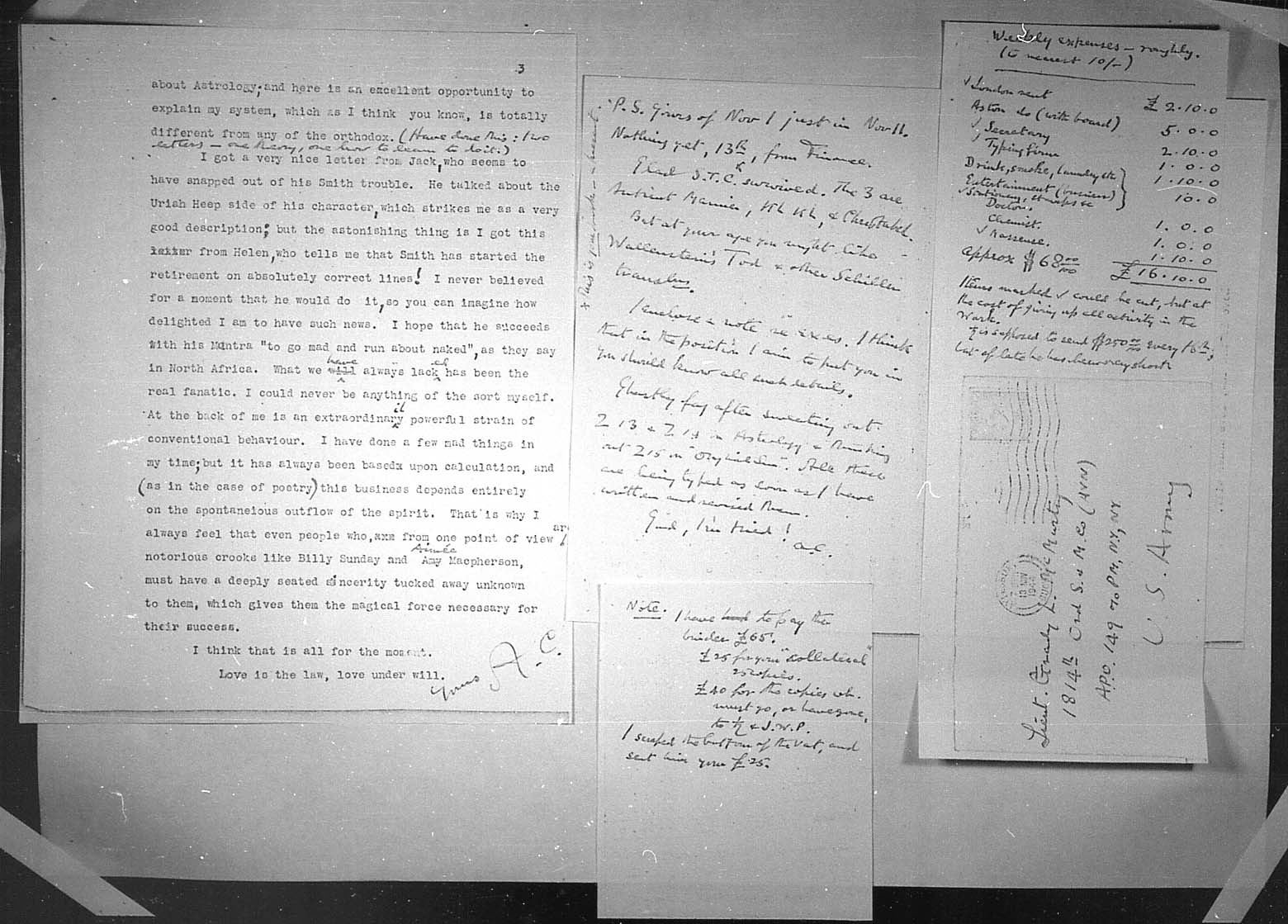 (11/13/1944) Aleister Crowley to Grady McMurtry #3