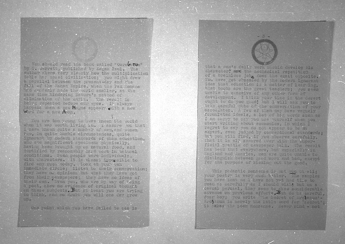 (08/18/1943) Aleister Crowley to Grady McMurtry #2