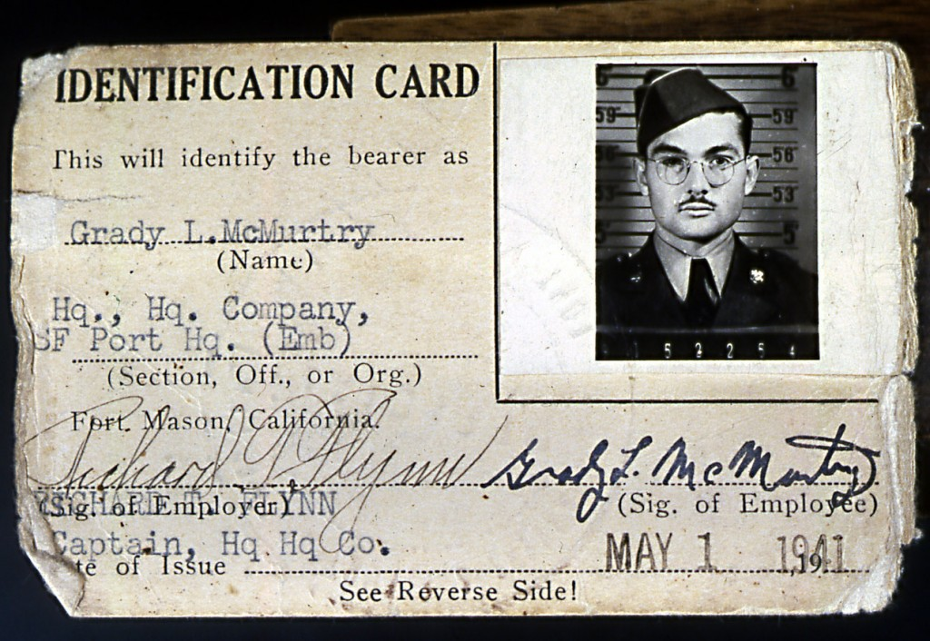 (05/01/1941) War Department Identification card