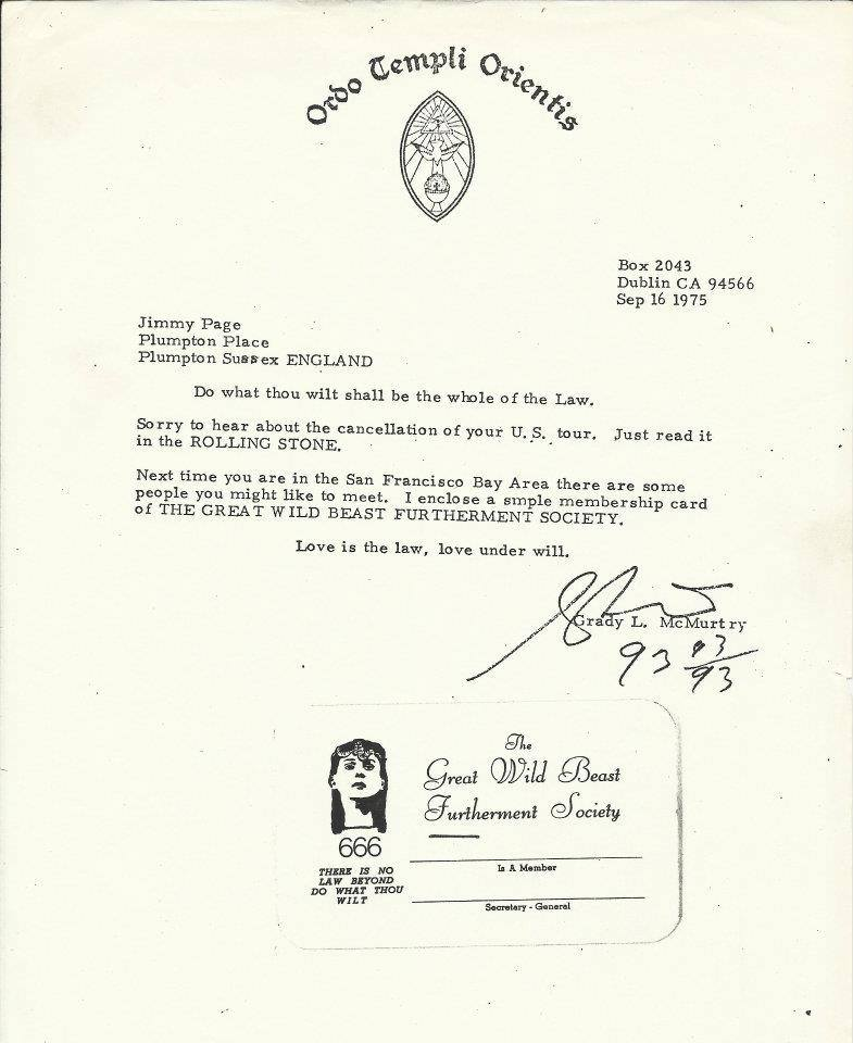 (09/16/1975) Grady McMurtry to Jimmy Page