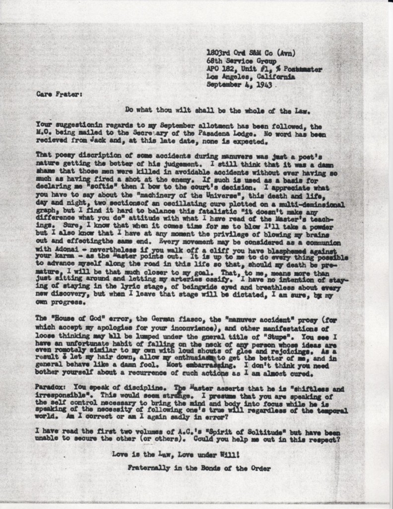 (1943/09/04) Grady McMurtry to Karl Germer
