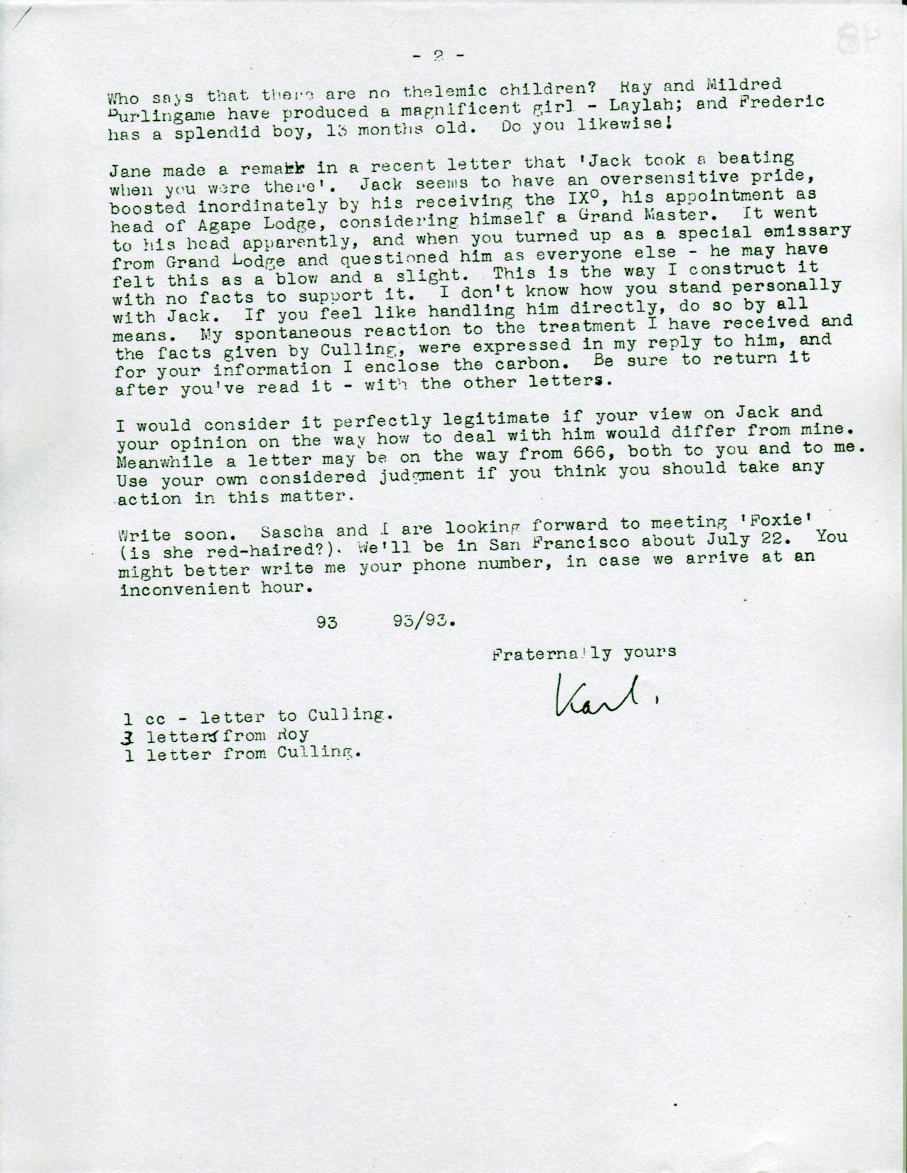 (05/24/1946) Karl Germer to Grady McMurtry (pg.2)